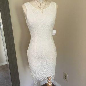 New beautiful classy midi fitted lace dress